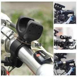 Bracket Lampu Senter Sepeda 360 Degree