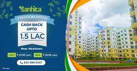 2/3bhk & 3bhk roof top premium flat sale at newtown with all amenities