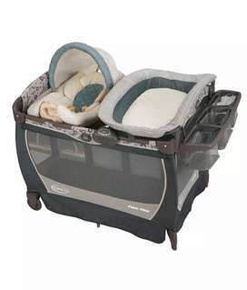 GRACO Pack and Play yard with diaper changing station