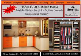 Modular kitchen and wardrobe