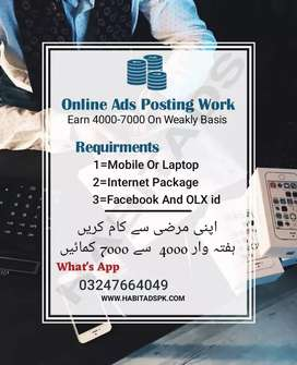 (Part time needed for fb job data typing)