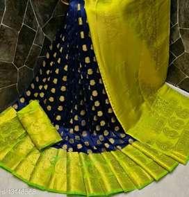 Presents Designer Nylon Silk Saree For Partywer