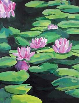 Water lilly Painting on Paper