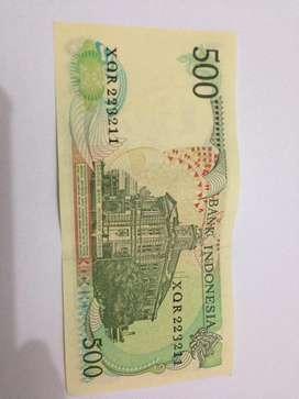 Uang kuno 500 rusa kondisi baru seri berurutan
