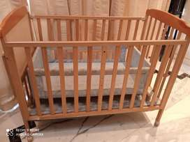 Baby Cot with wheels and lock for New born (used 3 months)