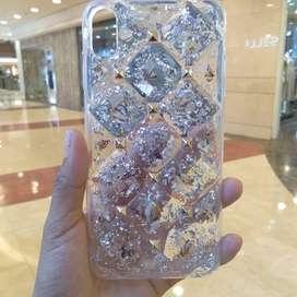 Casing Diamond Bling Yameina Romantic For iPhone Xs/X Case Super Mewah