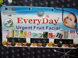 TWELVE PACKETS OF FRUITS FICIAL CREAM IS AVAILABLE ON WHOLESALE PRICES
