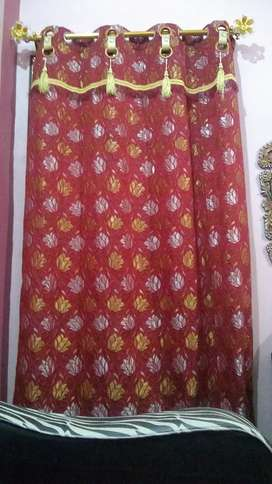 Double ring curtains new