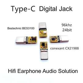 Digital Type C Jack Plug Chip Earphone Headset Audio Solution - Bestec