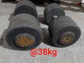 "Iron Fixed dumbell, solid dumbell Merk ""Delta Gym"""