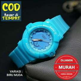 Jam tangan murah - Biru Muda ( BAYAR DI RUMAH )