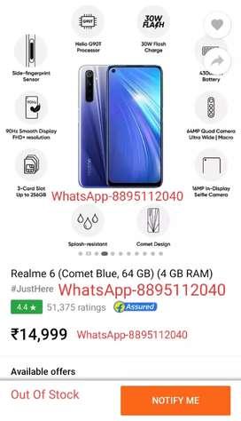 Realme 6 (Comet Blue,64GB) 4GB RAM