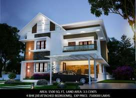 3.5 cent 1500 sqft new house manjummel