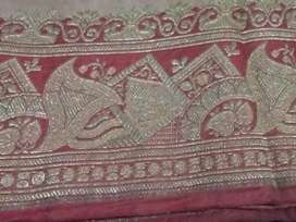 Saree  with a beautiful Colour combination of Cream and Red