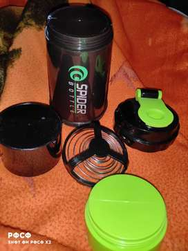 Gym bottle / Protein shaker 4 in 1