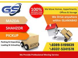Movers and Packers in Lahore, House Movers, Office Movers Mazda Shazor