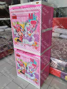 Lemari Plastik Naiba Super Premium Minnie Mouse 71,5x48x171cm