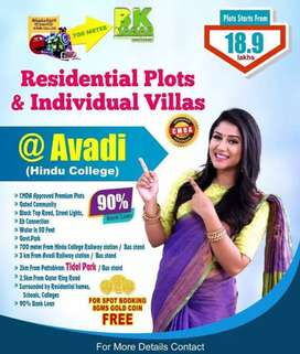 Plots for sale in avadi hindu college