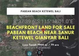 BEACHFRONT LAND FOR SALE PABEAN BEACH NEAR SANUR KETEWEL GIANYAR  BALI