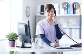 Urgent requirement in receptionist