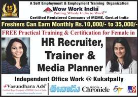 Fresher Exp Lady candidates earn in HR Good Income