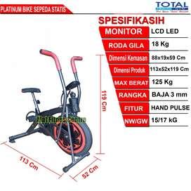 Sepeda Fitnes Statis Platinum Bike (Sepeda Terapi)