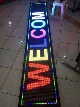 Running text display led outdoor