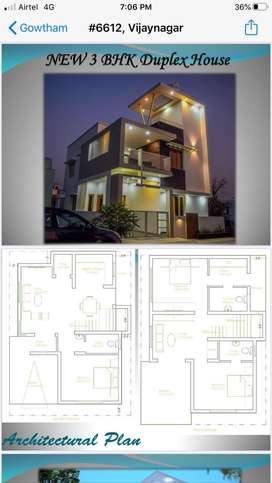 A newly bulit 3 bhk with interior teak finishing