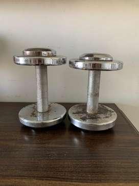 5 kg and 3 kg Iron Dumbells