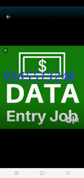 Part time data typing work for students and housewife