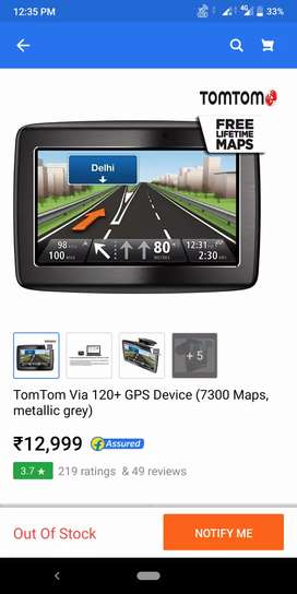 TomTom via 120 navigation device