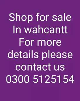 Shop for sale in Aslam Market wahcantt