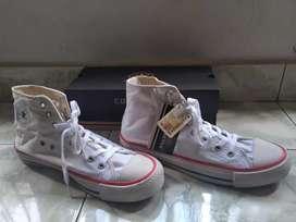 Sepatu Converse All Star 43 High Putih Import