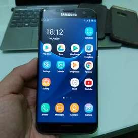 Jual Samsung S7 Edge 128gb Black edition fullset bonus banyak