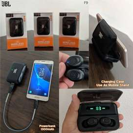 Free Home Delivery - JBL F9 TWS Earbuds Bluetooth Pure Bass, COD.