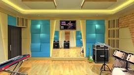 jasa peredam suara ruang entertainment pribadi,desain interiornya