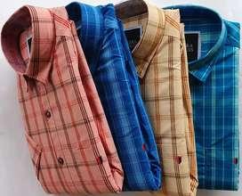 Shirts checks half sleeves