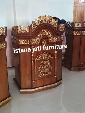 Tersedia Mimbar masjid podium khutbah ceramah masjid
