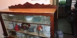 Showcase made by solid wood