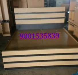 Newwww wooden double bed with box at banipark