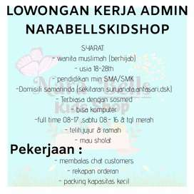 Bismillah Open Recruitment admin NaraBellsKidShop