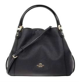 COACH Edie Shoulder Bag 28 Black