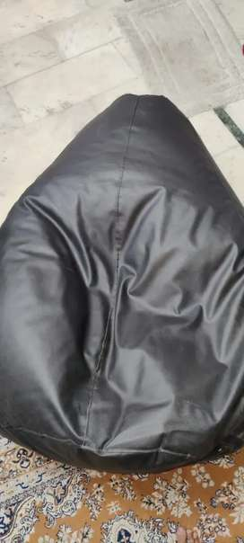 Black bean bag for sale in good condition
