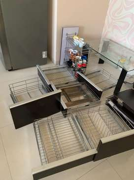 Kitchen stainless steel racks or trolleys