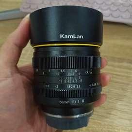 Lensa Kamlan 50mm f1.1 Mark II for Lumix Olympus MFT