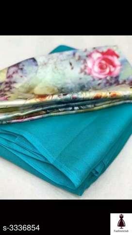 Chiffon saree with elegant designer blouse piece