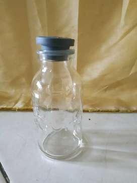 Botol asi kaca tutup abu