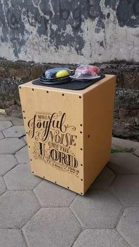 Cajon costum drum box alat musik