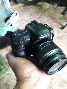 Kamera DSLR Sony a200 kondisi mantul bukan Canon nikon