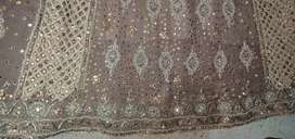 Bridal embroidered suit